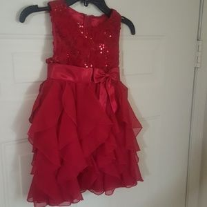 Pretty red girl's formal dress